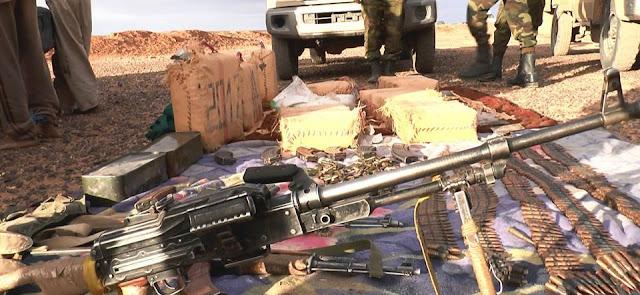 القبض على سبعة اشخاص وحجز سيارات من نوع تويوتا واسلحة في عملية نوعية للجيش الصحراوي