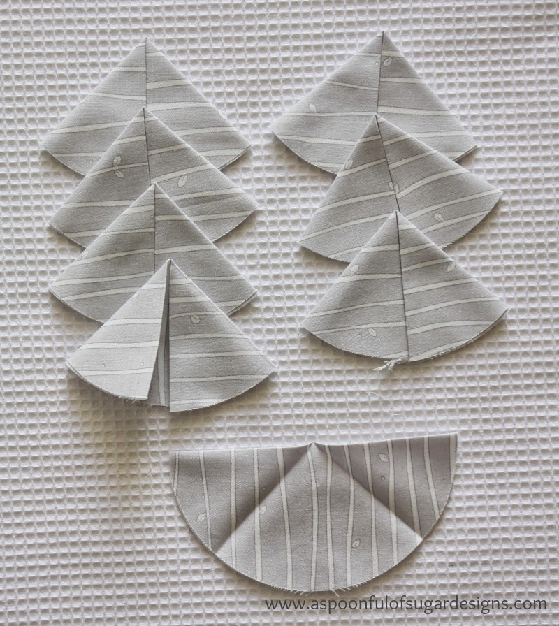 Folded Fabric Christmas Tree: A Spoonful Of Sugar