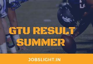 GTU Result Summer