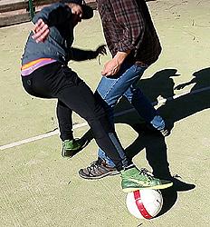 Fútbol-sala en la calle