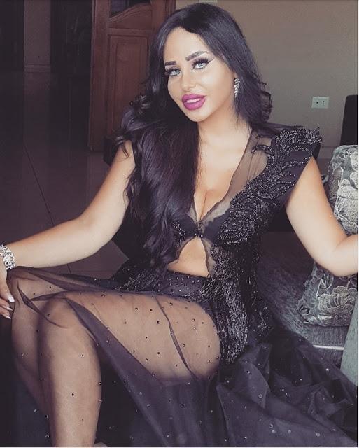 ألين عبود أكثر إثارة بفستان شفاف يكشف قوامها الرشيق