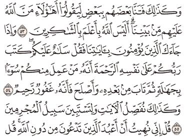 Tafsir Surat Al-An'am Ayat 51, 52, 53, 54, 55