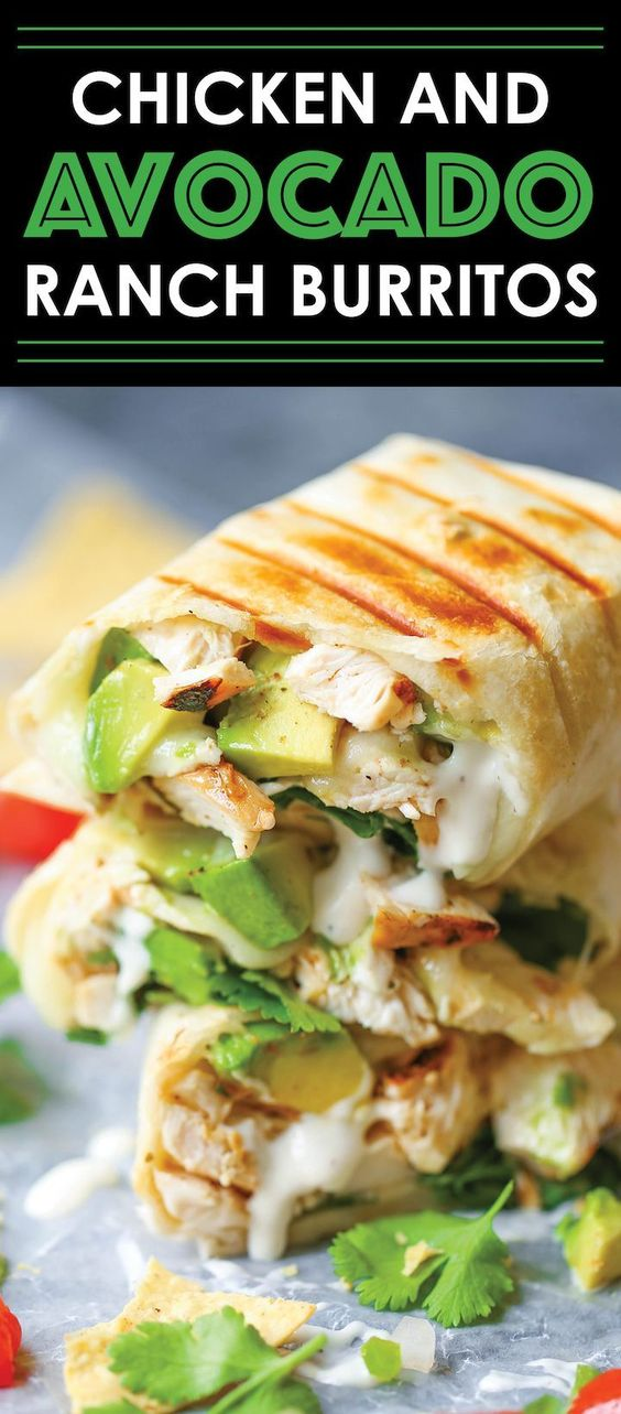 ★★★★☆ 2311 ratings ⋅ CHICKEN AND AVOCADO RANCH BURRITOS  #HEALTHYFOOD #EASYRECIPES #DINNER #LAUCH #DELICIOUS #EASY #HOLIDAYS #RECIPE #DESSERTS #SPECIALDIET #WORLDCUISINE #CAKE #APPETIZERS #HEALTHYRECIPES #DRINKS #COOKINGMETHOD #ITALIANRECIPES #MEAT #VEGANRECIPES #COOKIES #PASTA #FRUIT #SALAD #SOUPAPPETIZERS #NONALCOHOLICDRINKS #MEALPLANNING #VEGETABLES #SOUP #PASTRY #CHOCOLATE #DAIRY #ALCOHOLICDRINKS #BULGURSALAD #BAKING #SNACKS #BEEFRECIPES #MEATAPPETIZERS #MEXICANRECIPES #BREAD #ASIANRECIPES #SEAFOODAPPETIZERS #MUFFINS #BREAKFASTANDBRUNCH #CONDIMENTS #CUPCAKES #CHEESE #CHICKENRECIPES #PIE #COFFEE #NOBAKEDESSERTS #HEALTHYSNACKS #SEAFOOD #GRAIN #LUNCHESDINNERS #MEXICAN #QUICKBREAD #LIQUOR