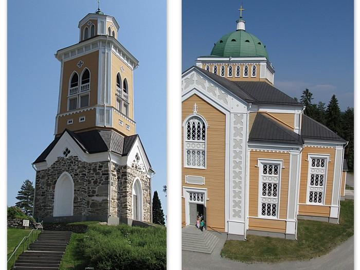 Kerimäen kirkkotapuli tapuli puukirkko Suomen suurin puukirkko