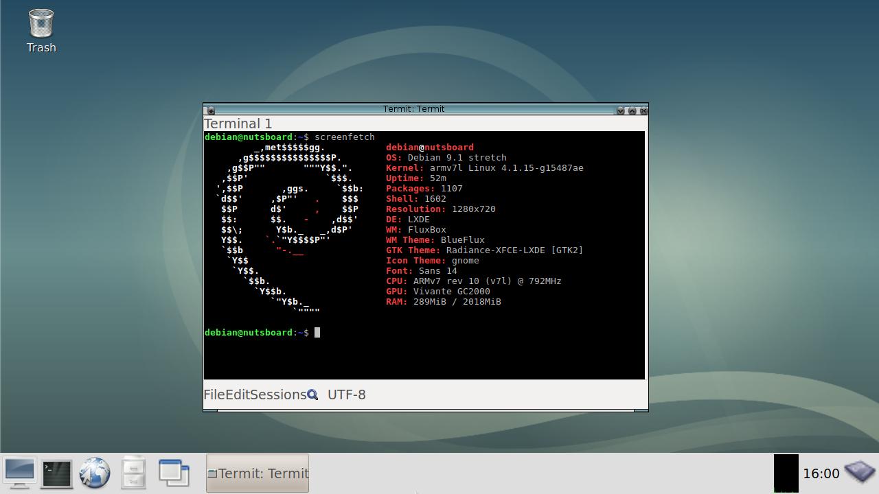 Debian Stretch 9 1 Desktop available for Pistachio | NutsBoard