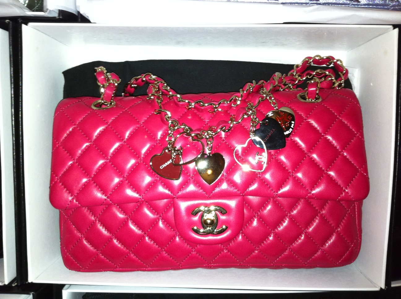 2e8e03cc87ee BAGS AVENUE: Sold!!! Auth Chanel limited edition valentine flap in ...