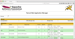 Tomcat Manager App - Applications