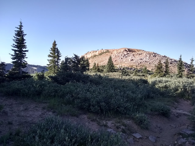 rocky hump of land