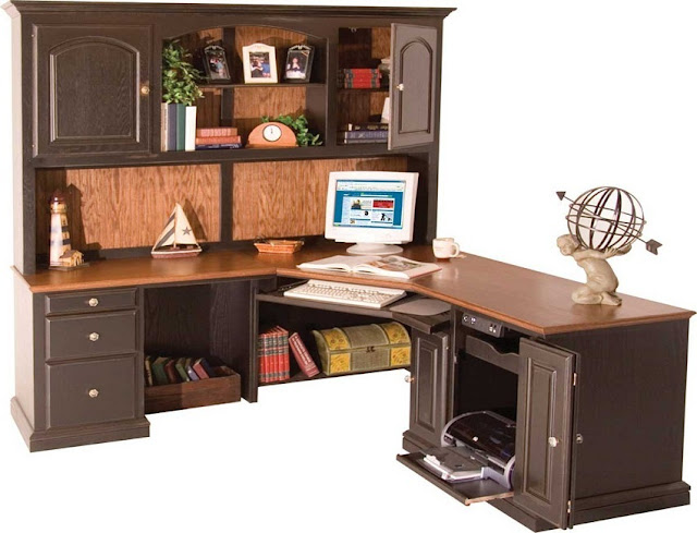 buy cheap l shaped home office furniture hutch in Toronto for sale