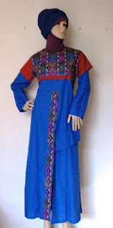 Gamis Kombinasi Batik GK2295