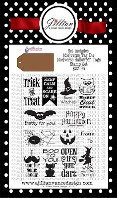 DieVerse Halloween Tags Stamp and Die set
