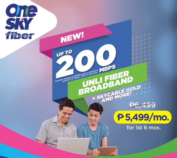 SKY Outs One SKY Fiber 200Mbps Broadband Plan