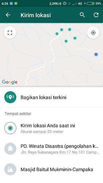 cara kirim lokasi GPS di whatsapp