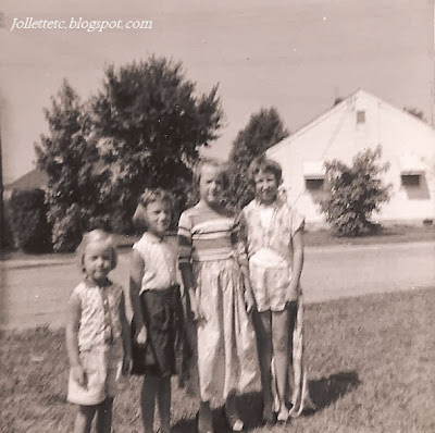 Wendy and the Allen girls, Portsmouth, VA about 1959