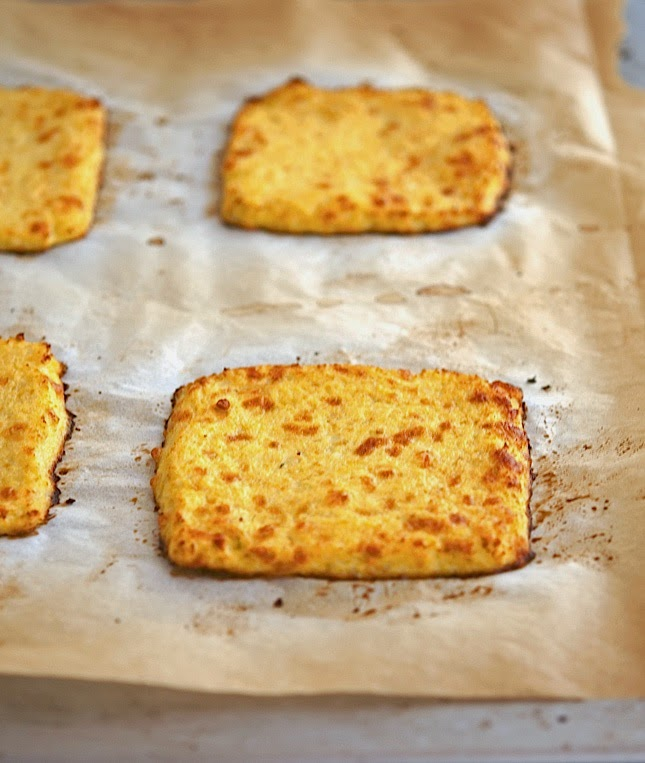 Making cauliflower crust grilled cheese