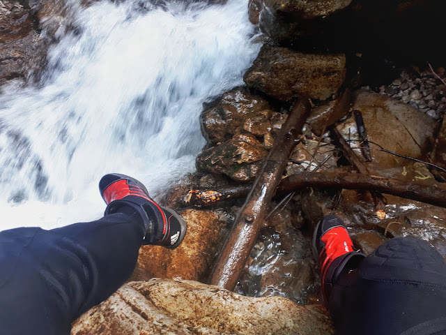 Canyoning rio Nero with proper shoes Valle di Ledro Valley Trentino