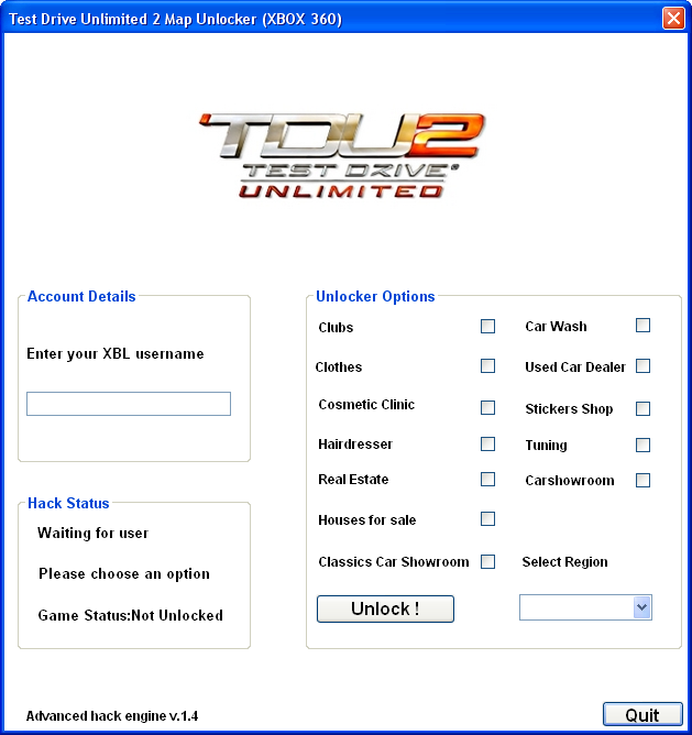 Map unlocker drive hack unlimited 2 test