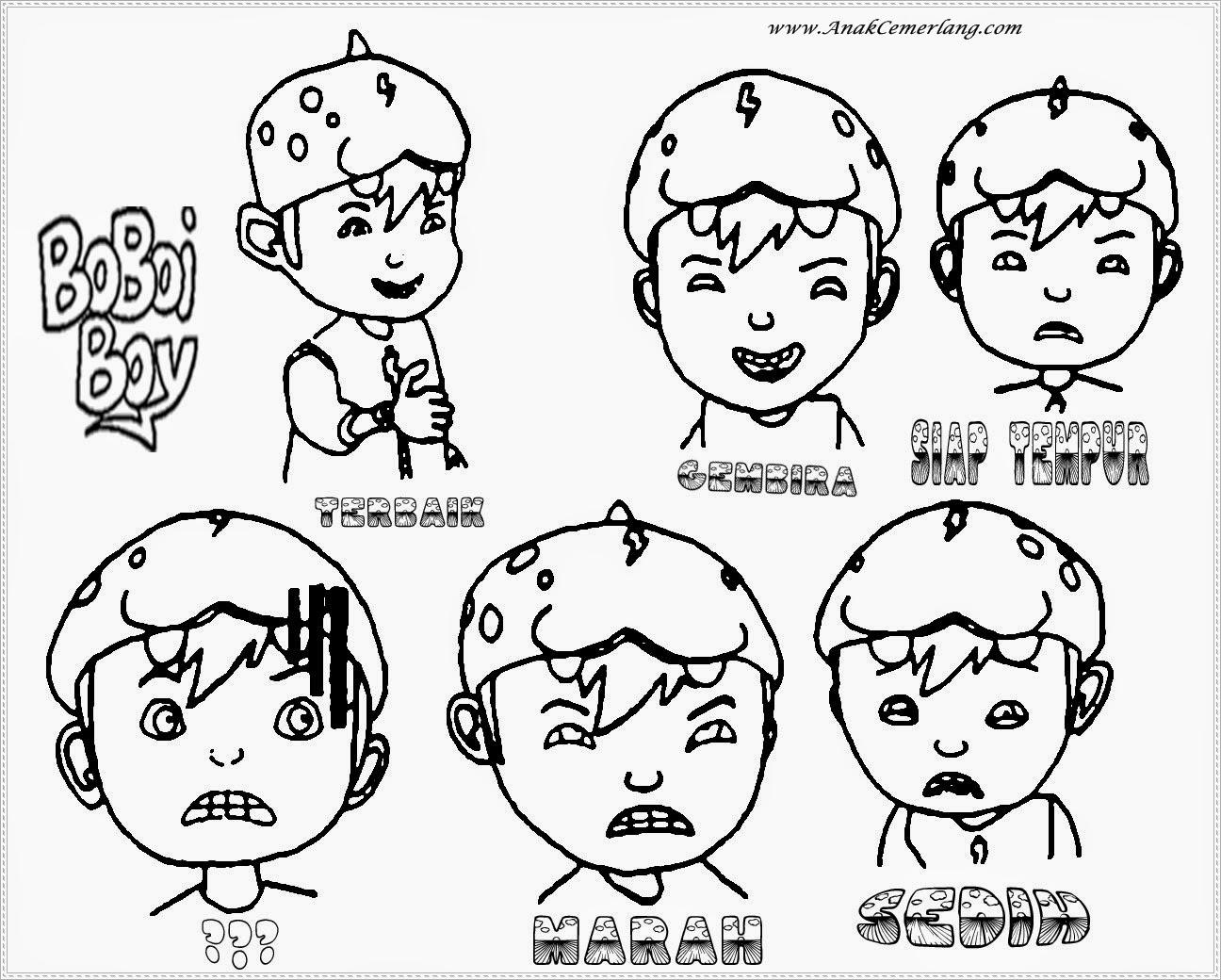 Gambar Mewarnai Boboiboy Bagian 2 | Anak Cemerlang