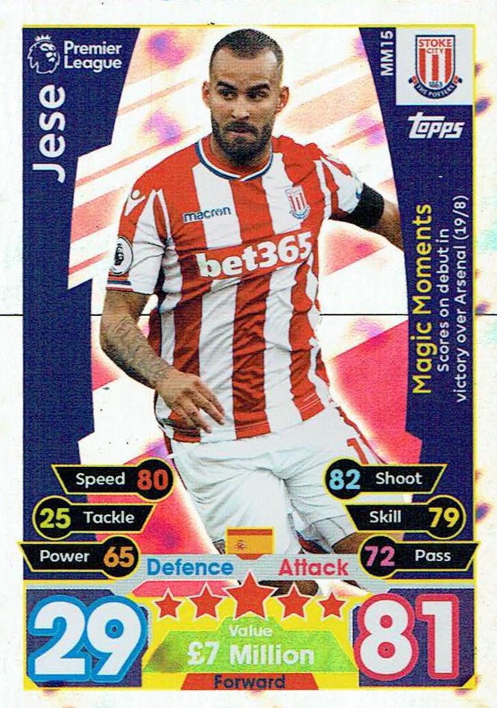 1 x Display 50 Booster TOPPS MATCH ATTAX Premier League 17//18 300 Karten