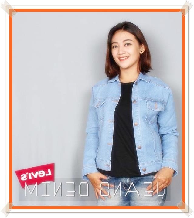 gambar jaket jeans wanita branded