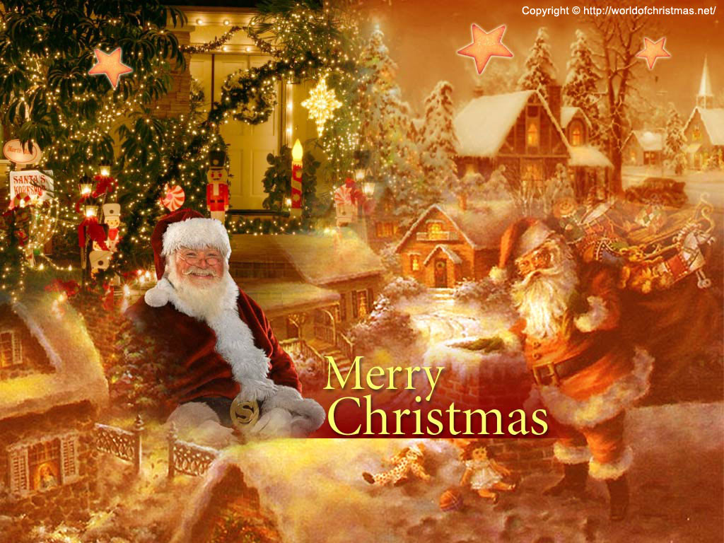 Top 24 Best Free Hd Christmas Wallpapers: Free Wallpaper: Santa Claus Wallpaper
