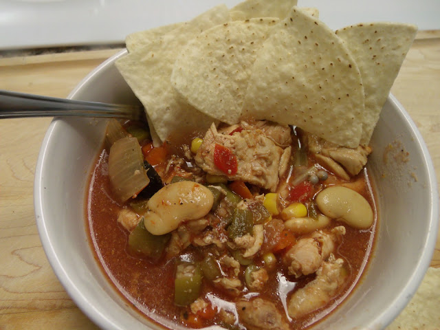 Mexican style chicken tortilla soup