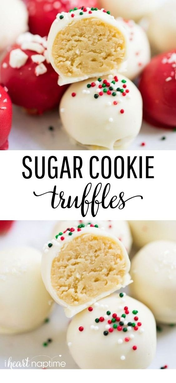 Sugar Cookie Truffles