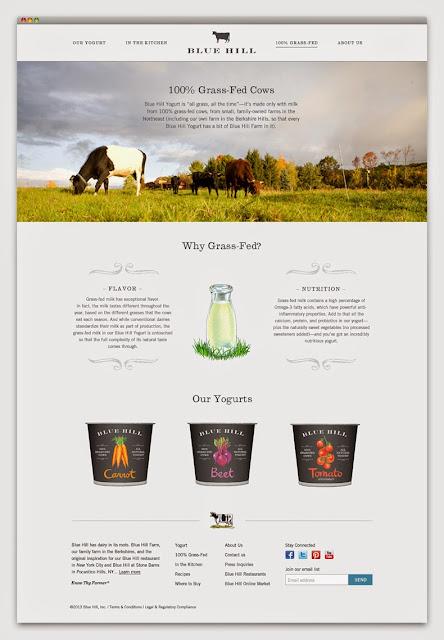Proyecto de branding para Blue Hill Yogurt