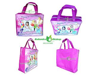 tas ultah anak, tas ultah murah, tas souvenir ultah luttle pony, tas ulang tahun anak, tas ultah resleting