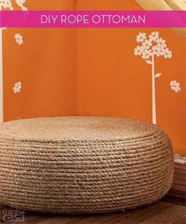 Make An Ottoman From An Old Tire