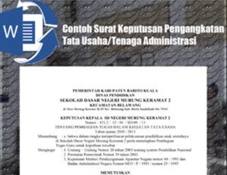 Download Contoh Surat Keputusan Tata Usaha/Tenaga Administrasi Terbaru