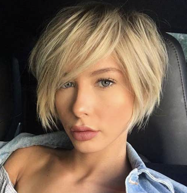 trend short haircuts for fine hair