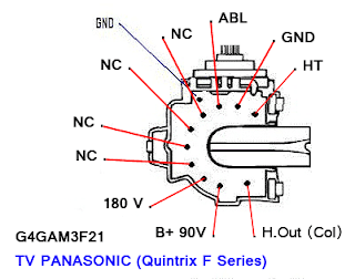 Data Pin Out Flyback G4GAM3F21 TV Panasonic (Quintrix F Series)