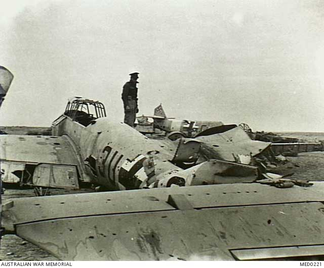 Smashed Luftwaffe planes in North Africa, 22 December 1941 worldwartwo.filminspector.com
