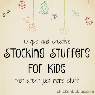 such fun and creative ideas for kids' stockings! Not your usual list.