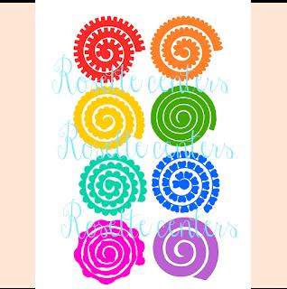 paper flower templates- rosette flower tutorial- paper rose- rolled rosettes