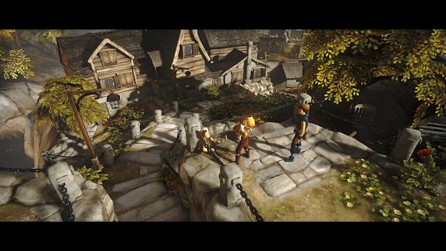 Jika melakukan interaksi dengan NPC, layar menjadi cinematic