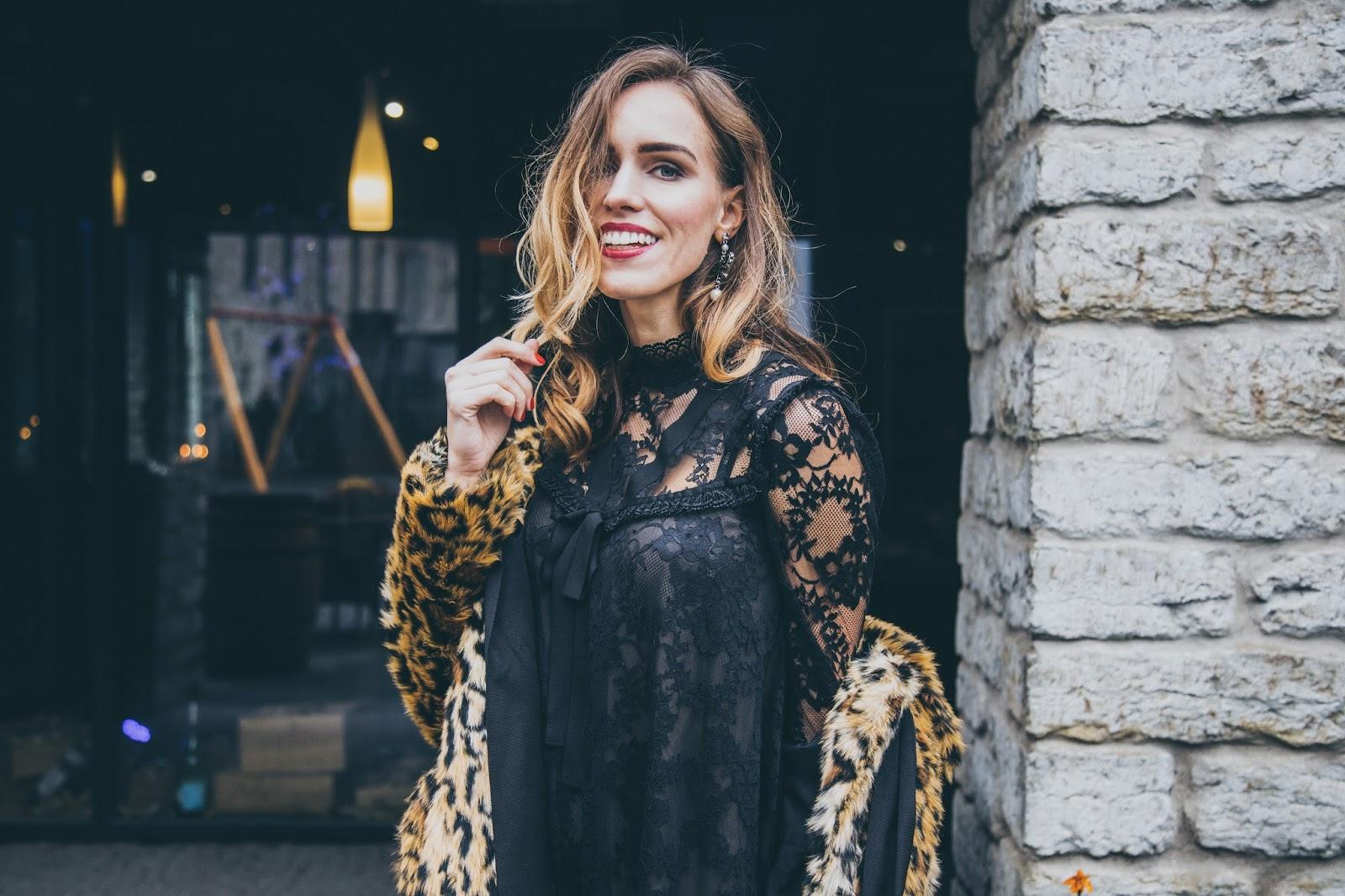 erdem x hm collaboration collection black lace dress outfit