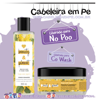 Condicionador e Máscara Óleo de Coco e Ylang Ylang - Love, Beauty and Planet (No Poo e Co Wash)