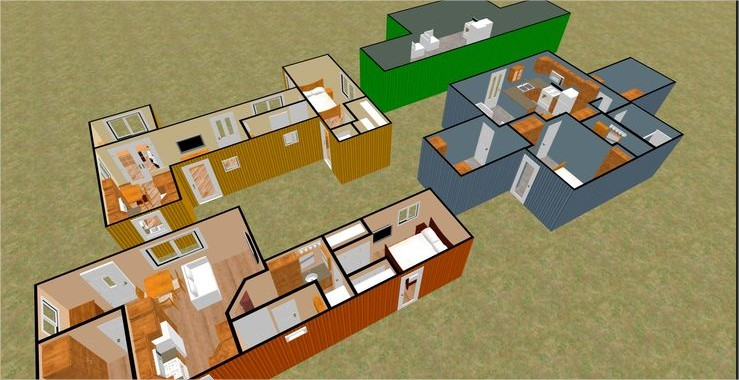 Shipping Container Home Floor Plans House On 1 Bedroom 2 Container