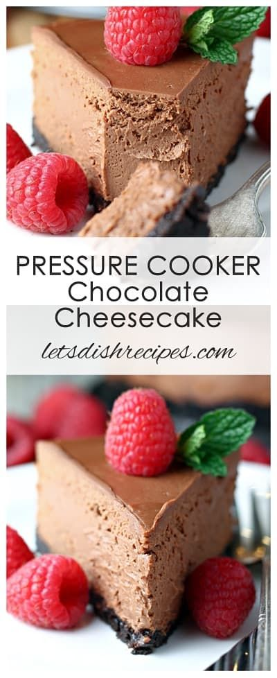 PRESSURE COOKER CHOCOLATE CHEESECAKE