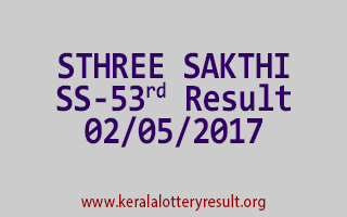 STHREE SAKTHI Lottery SS 53 Results 2-5-2017