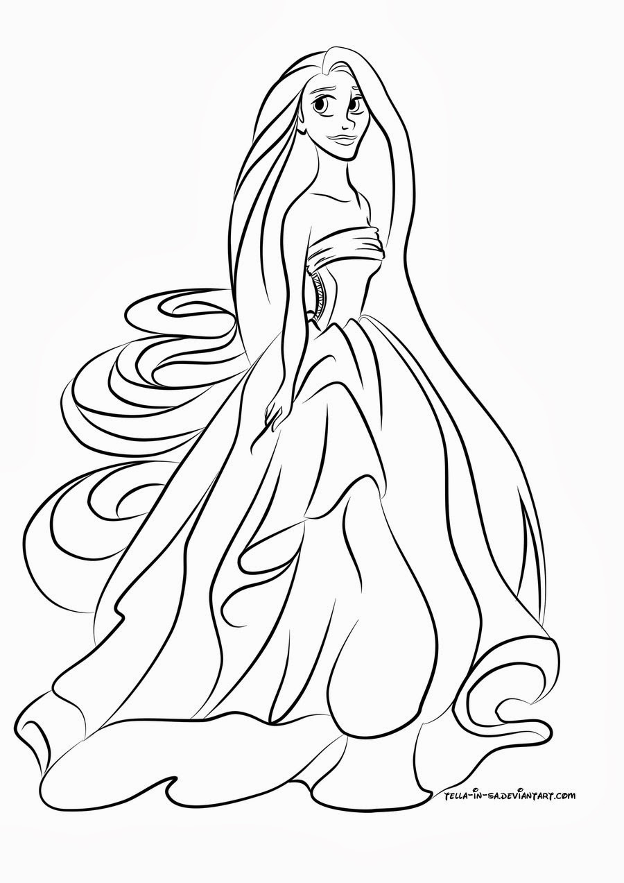 Inspirational Disegni Da Colorare Principesse Rapunzel Migliori