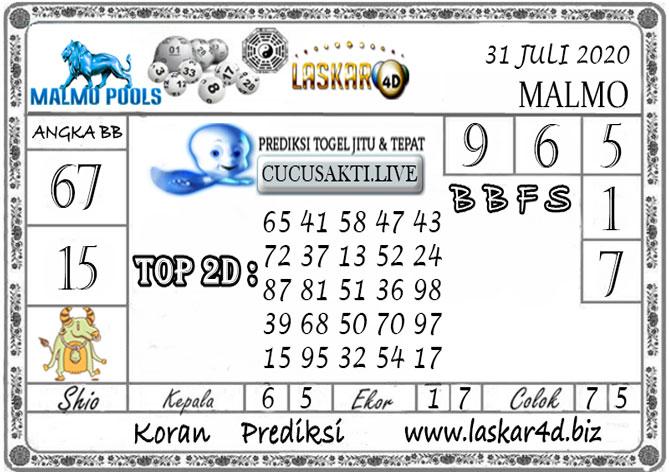 Prediksi Togel MALMO LASKAR4D 31 JULI 2020