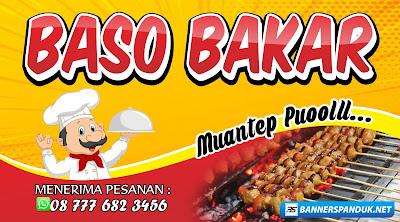 Contoh Banner Spanduk Bakso Bakar Cdr - Landai