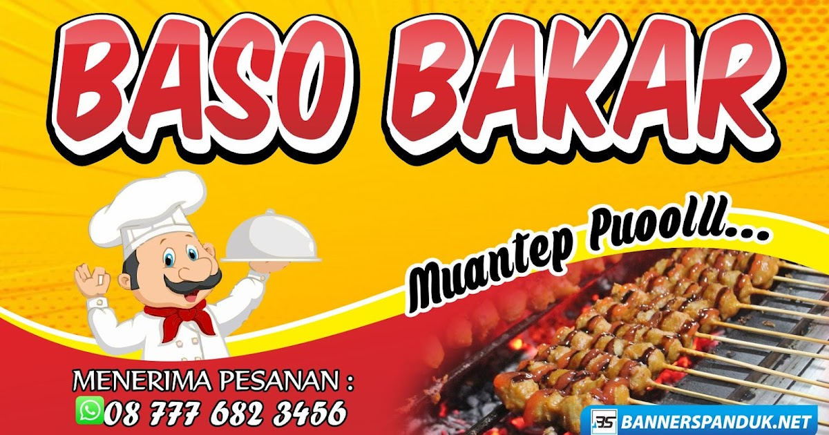 Contoh Banner Spanduk Bakso Bakar Cdr