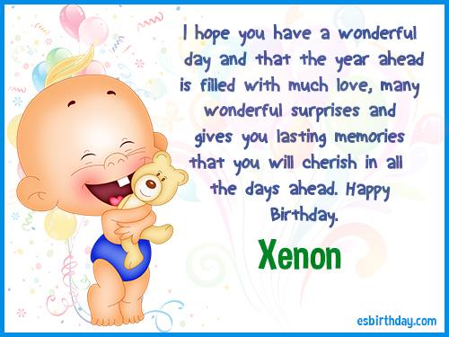 Xenon Happy Birthday