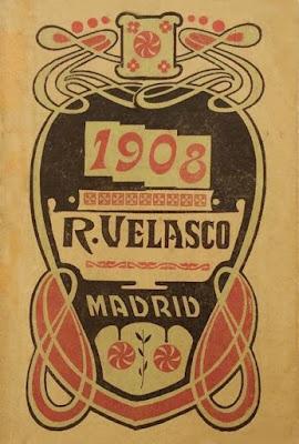 Portada del Alamanaque para 1908, Madrid: Regino Velasco Impresor (archivo del autor)