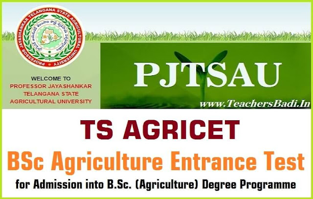 TS AGRICET, BSc Agriculture Entrance Test,BSc Degree admissions