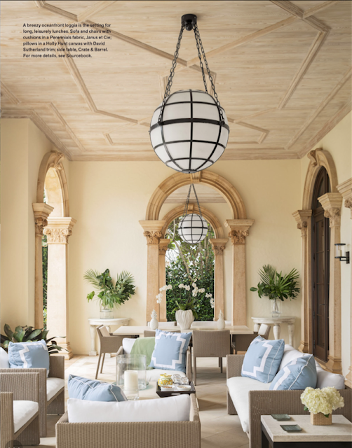 David Kleinberg Design in Palm Beach loggia design